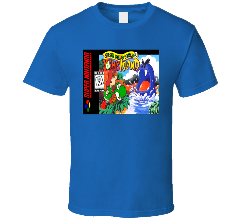 Yoshi's Island Nes Classic Video Game Cartridge Retro Gift T Shirt