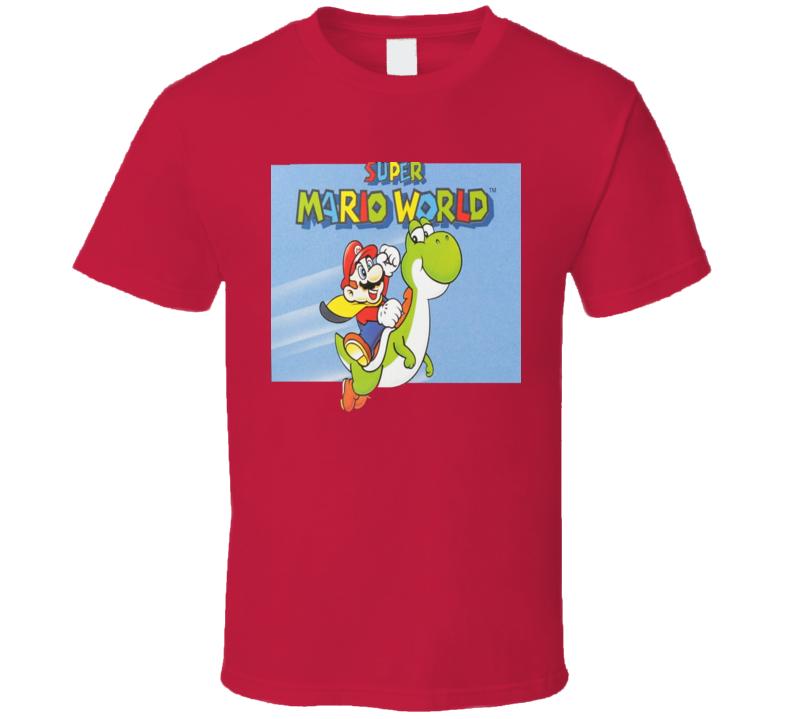 Super Mario World Classic Video Game Cartridge Retro Gift T Shirt