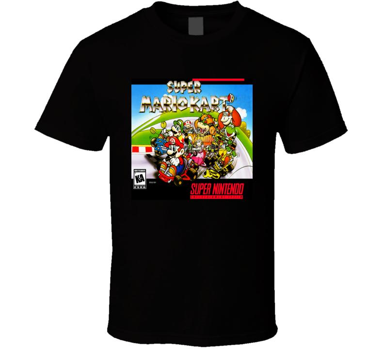 Super Mario Kart Nes Classic Video Game Cartridge Retro Gift T Shirt