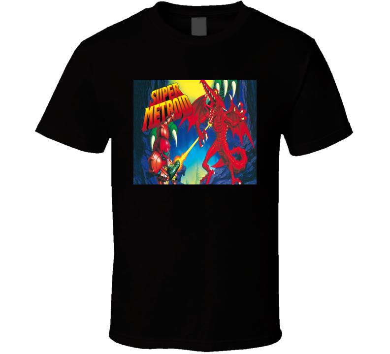 Super Metroid Classic Video Game Cartridge Retro Gift T Shirt