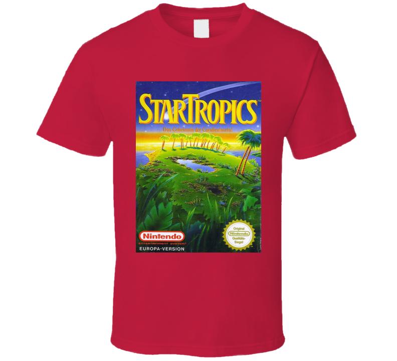 Star Tropics Classic Video Game Cartridge Retro Gift T Shirt