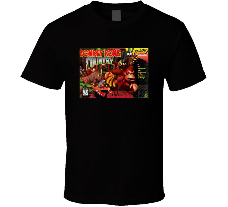 Donkey Kong Country Classic Video Game Cartridge Retro Gift T Shirt