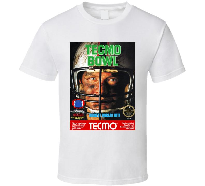 Tecmo Bowl Classic Video Game Cartridge Retro Gift T Shirt