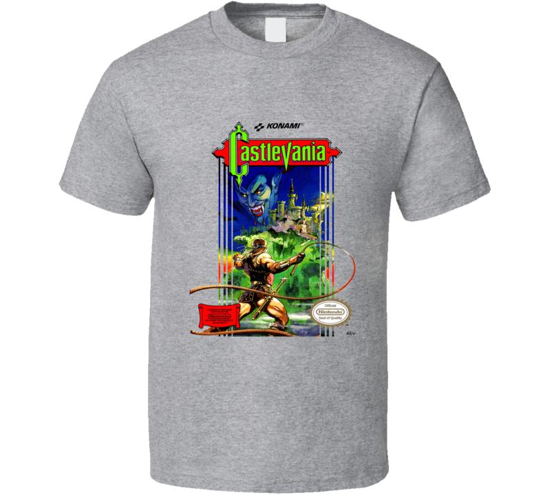 Castlevania Classic Video Game Cartridge Retro Gift T Shirt