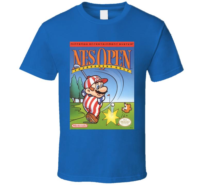 Nes Open Tournament Classic Video Game Cartridge Retro Gift T Shirt