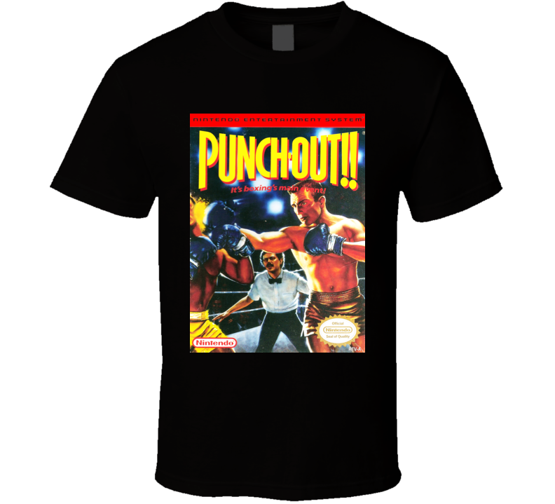 Punch Out Classic Video Game Cartridge Retro Gift T Shirt