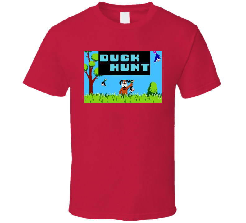 Duck Hunt Classic Video Game Cartridge Retro Gift T Shirt