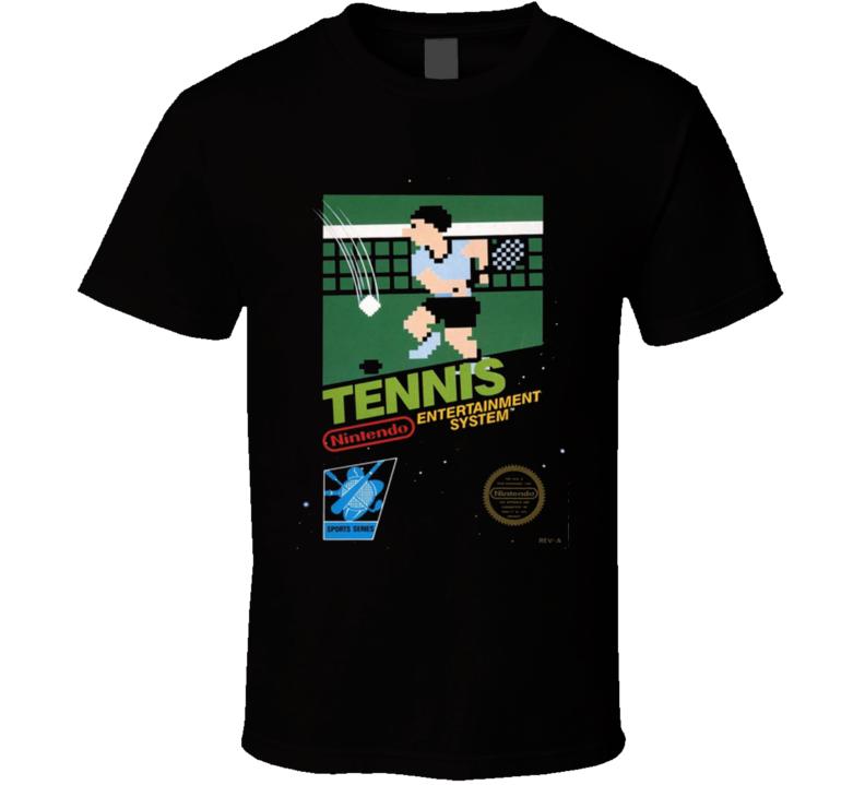 Tennis 1984 Classic Video Game Cartridge Retro Gift T Shirt