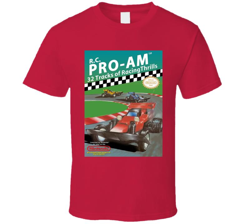 R.c. Pro-am Classic Video Game Cartridge Retro Gift T Shirt