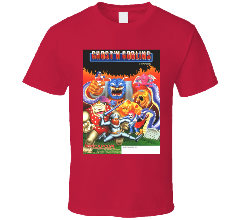 Ghosts 'n Goblins Classic Video Game Cartridge Retro Gift T Shirt