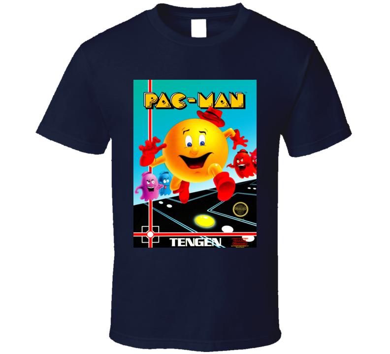 Pac Man Nes Classic Video Game Cartridge Retro Gift T Shirt