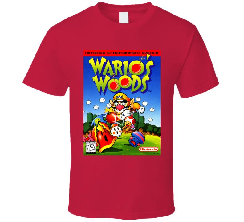 Wario Woods Classic Video Game Cartridge Retro Gift T Shirt