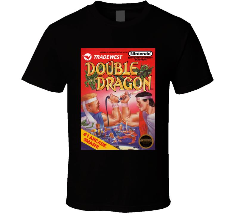 Double Dragon Classic Video Game Cartridge Retro Gift T Shirt