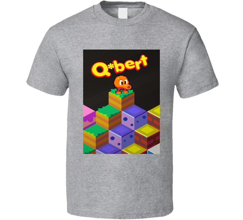 Q Bert Classic Video Game Cartridge Retro Gift T Shirt