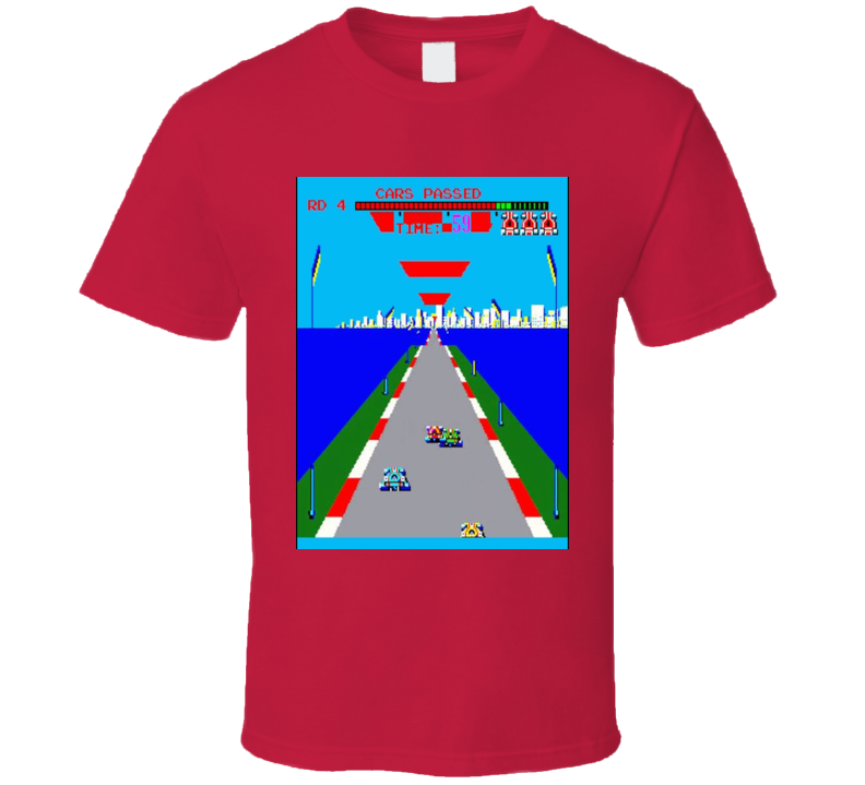 Turbo 1981 Classic Video Game Cartridge Retro Gift T Shirt
