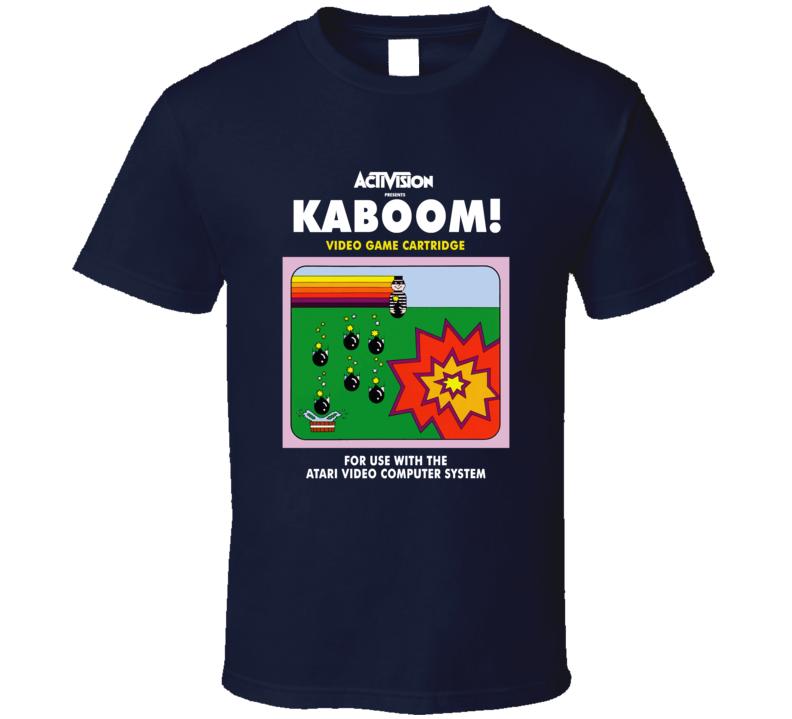 Kaboom Classic Video Game Cartridge Retro Gift T Shirt