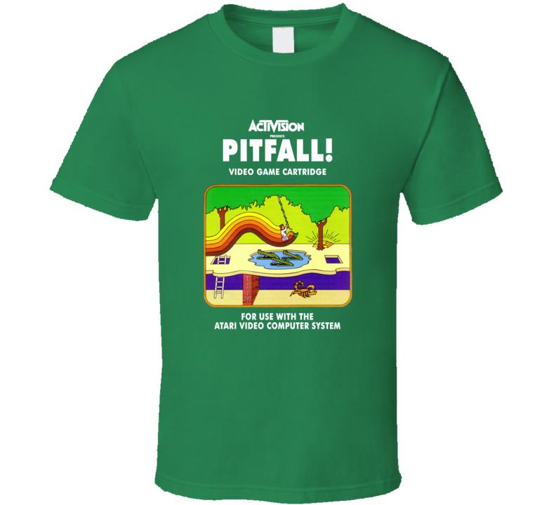 Pitfall Classic Video Game Cartridge Retro Gift T Shirt