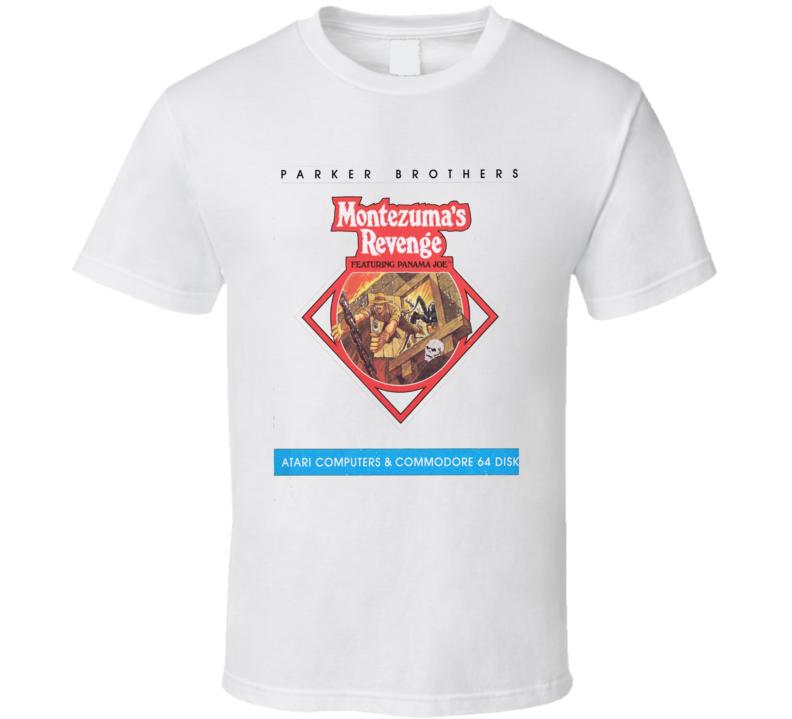 Montezuma's Revenge Classic Video Game Cartridge Retro Gift T Shirt