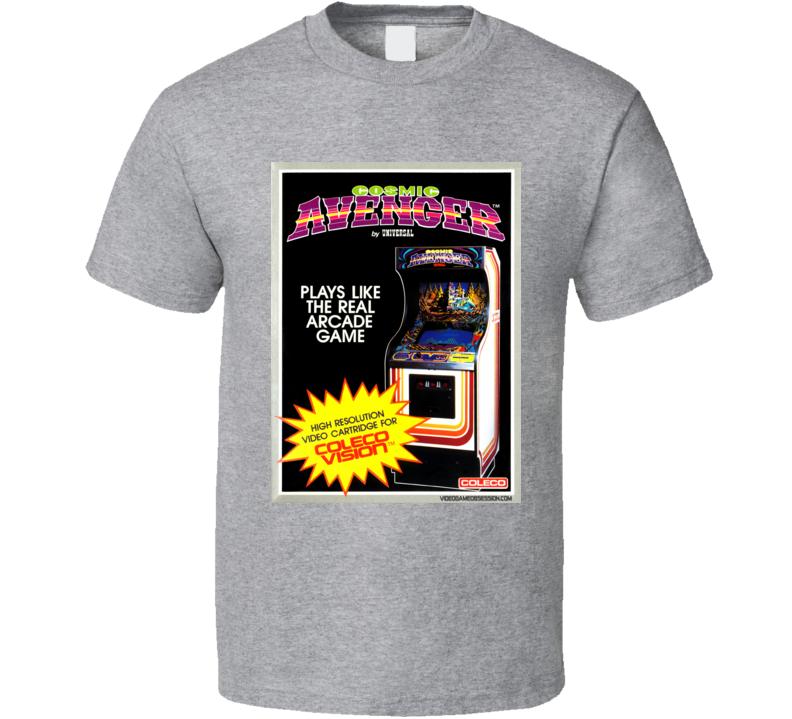 Cosmic Avenger Classic Video Game Cartridge Retro Gift T Shirt