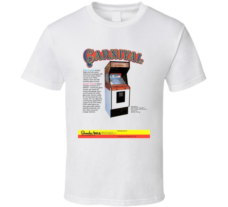Carnival Classic Video Game Cartridge Retro Gift T Shirt