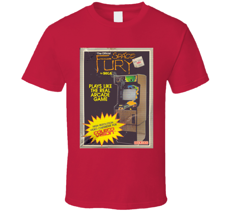Space Fury Classic Video Game Cartridge Retro Gift T Shirt