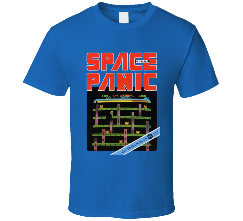 Space Panic Classic Video Game Cartridge Retro Gift T Shirt