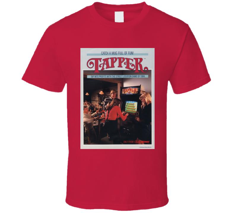 Tapper Arcade Game Classic Video Game Cartridge Retro Gift T Shirt