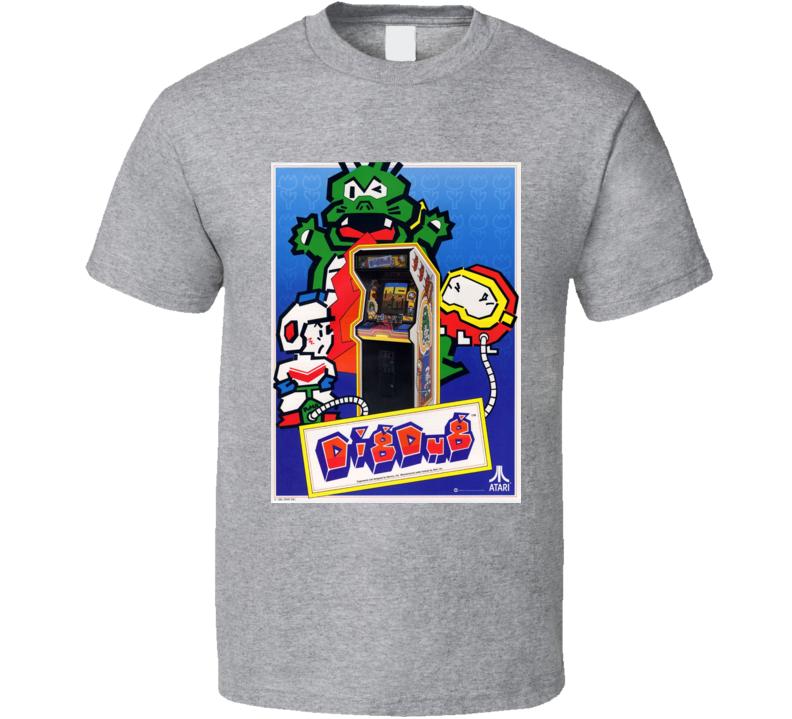 Dig Dug Classic Video Game Cartridge Retro Gift T Shirt