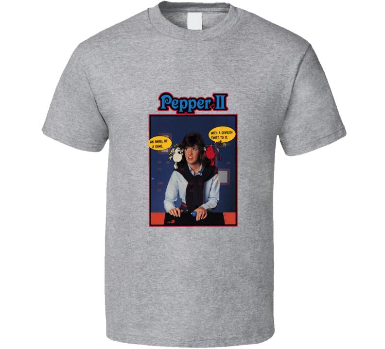 Pepper Ii Classic Video Game Cartridge Retro Gift T Shirt