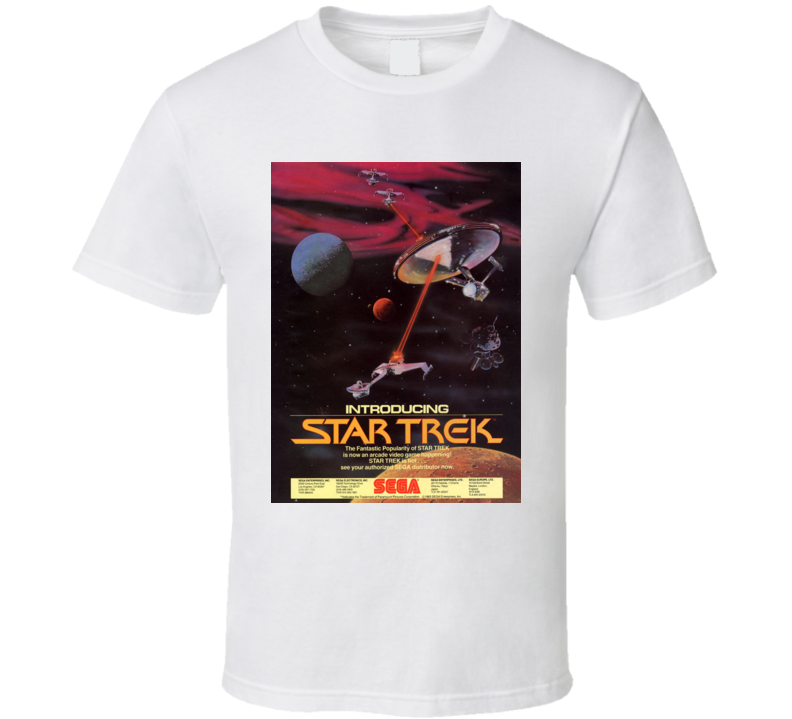 Star Trek 1983 Classic Video Game Cartridge Retro Gift T Shirt