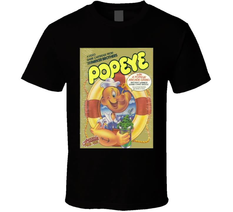 Popeye Classic Video Game Cartridge Retro Gift T Shirt
