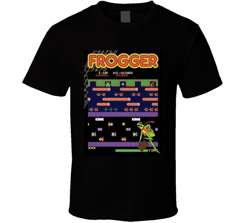 Frogger Classic Video Game Cartridge Retro Gift T Shirt