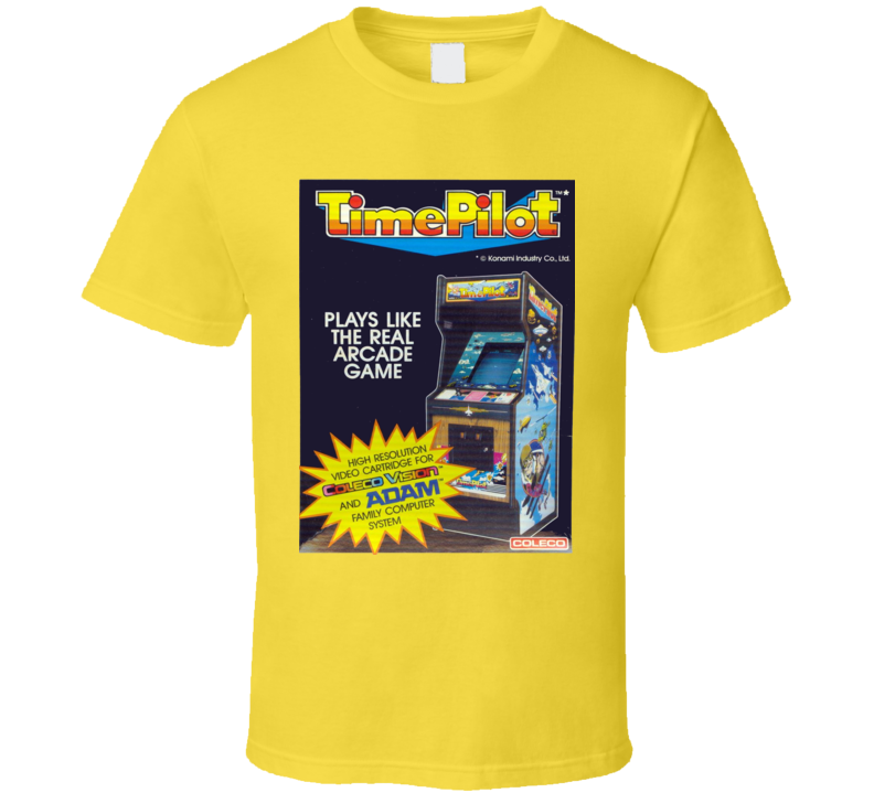 Time Pilot Classic Video Game Cartridge Retro Gift T Shirt
