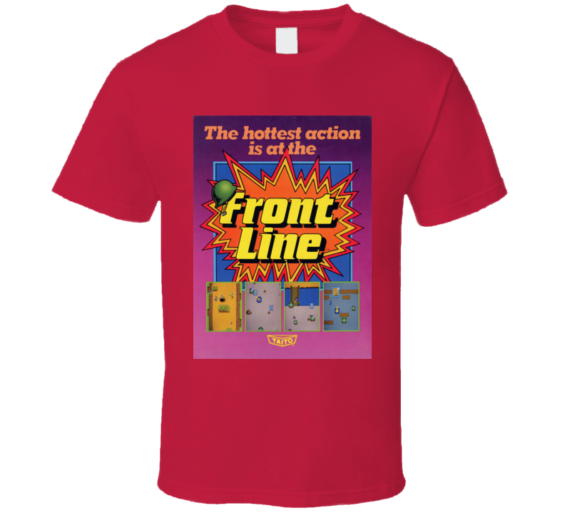 Front Line Classic Video Game Cartridge Retro Gift T Shirt