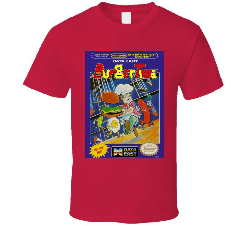 Burger Time Classic Video Game Cartridge Retro Gift T Shirt