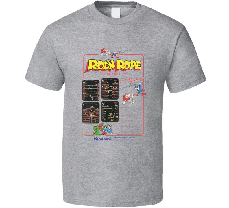 Roc'n Rope Classic Video Game Cartridge Retro Gift T Shirt