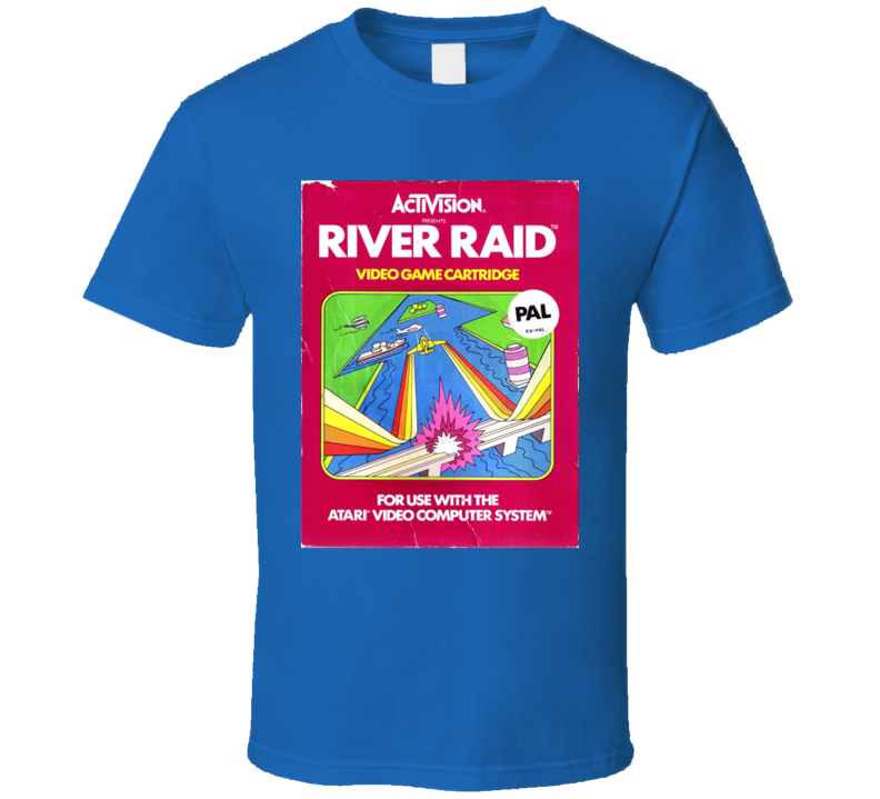 River Raid Classic Video Game Cartridge Retro Gift T Shirt