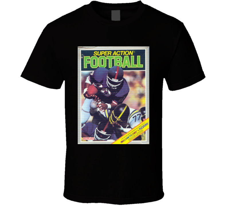 Super Action Football Classic Video Game Cartridge Retro Gift T Shirt