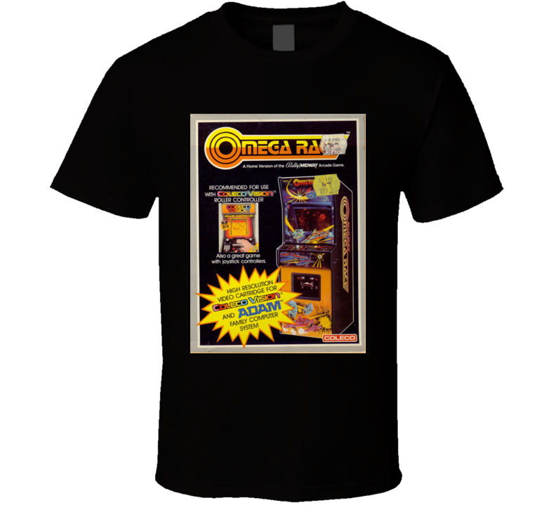 Omega Race Classic Video Game Cartridge Retro Gift T Shirt