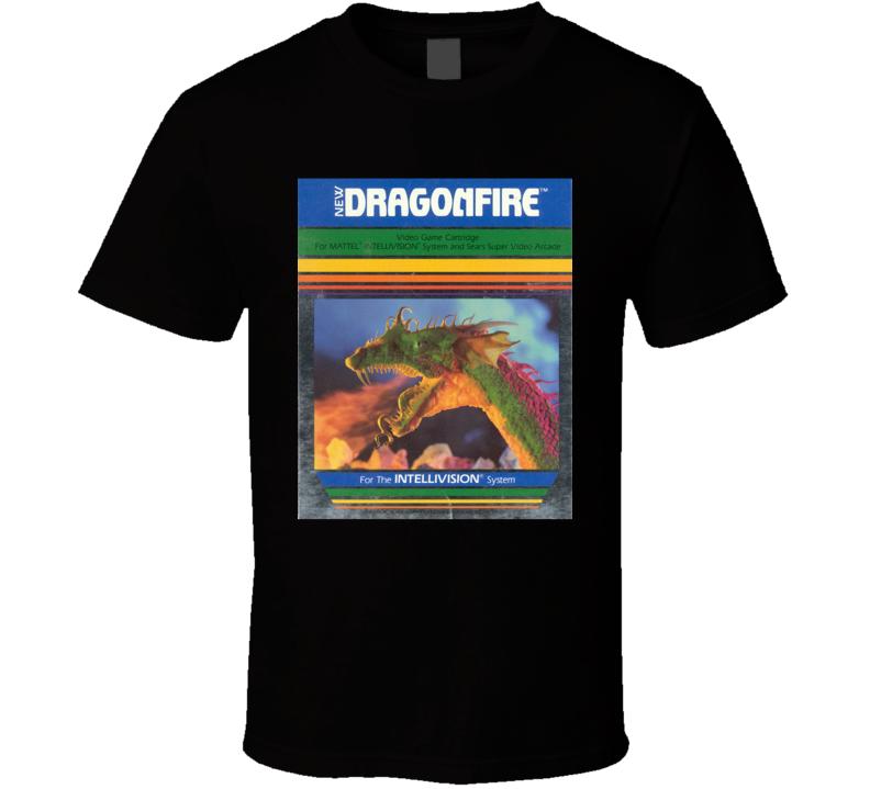 Dragon Fire Classic Video Game Cartridge Retro Gift T Shirt