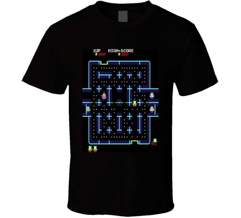 Lock 'n' Chase Classic Video Game Cartridge Retro Gift T Shirt