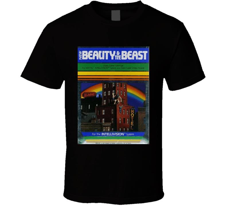 Beauty & The Beast 1982 Classic Video Game Cartridge Retro Gift T Shirt