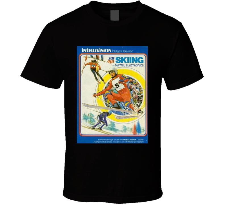 Skiing Classic Video Game Cartridge Retro Gift T Shirt
