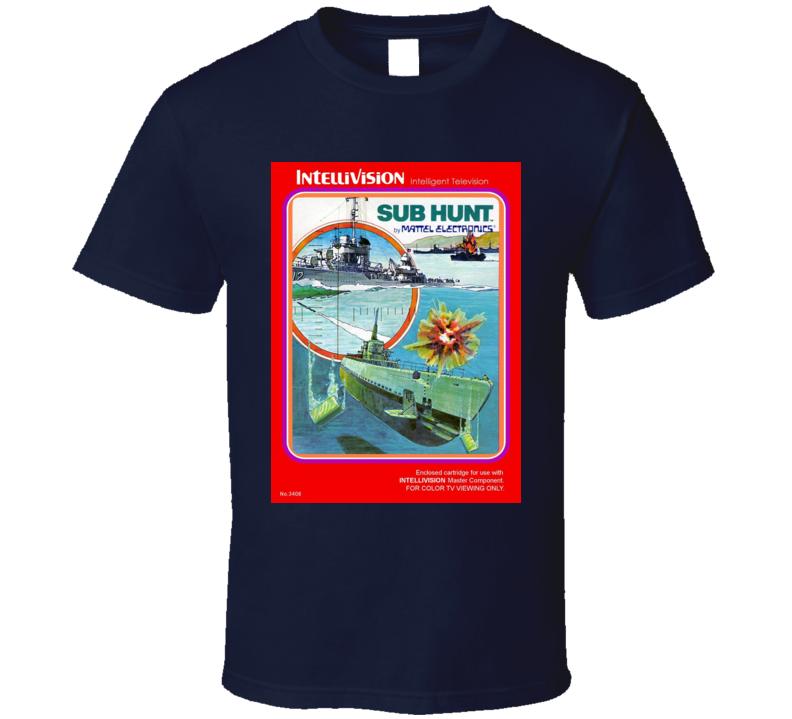 Sub Hunt Classic Video Game Cartridge Retro Gift T Shirt