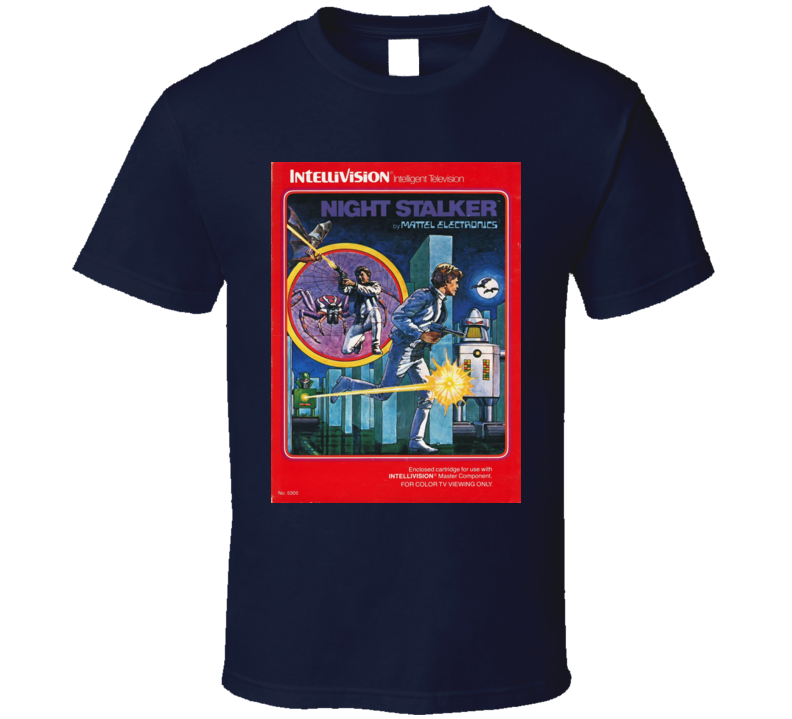Night Stalker Classic Video Game Cartridge Retro Gift T Shirt