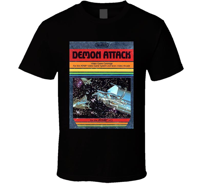 Demon Attack Classic Video Game Cartridge Retro Gift T Shirt