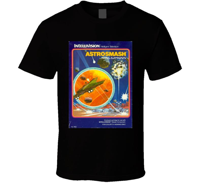 Astrosmash Classic Video Game Cartridge Retro Gift T Shirt