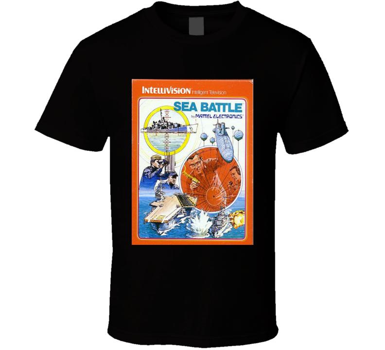 Sea Battle Classic Video Game Cartridge Retro Gift T Shirt