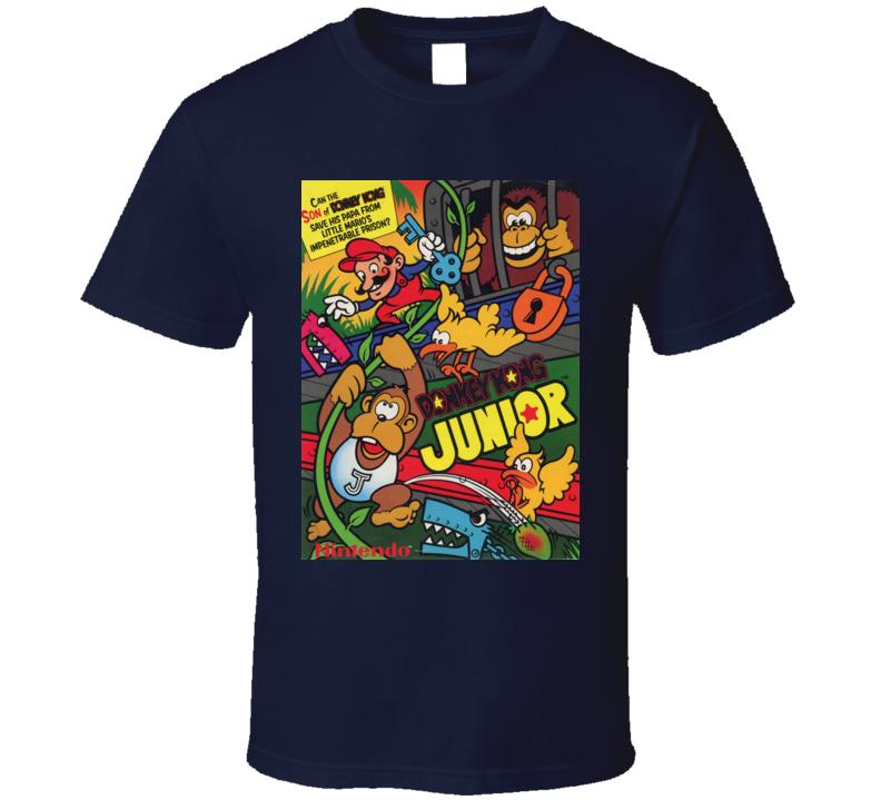 Donkey Kong Junior Classic Video Game Cartridge Retro Gift T Shirt