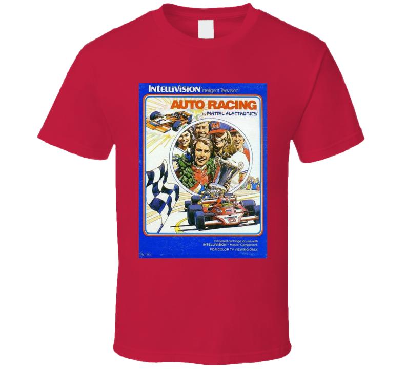 Auto Racing Classic Video Game Cartridge Retro Gift T Shirt